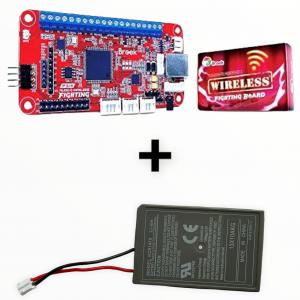 Wireless Fighting Board + Audio + Batería PS4