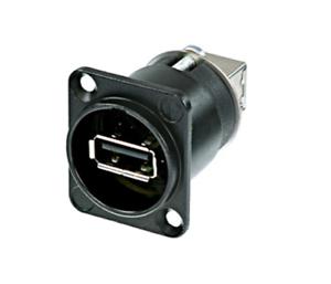 Neutrik Reversible USB A a USB B – Negro