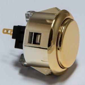 Sanwa OBSJ 30mm Botón Metalico – Dorado (Gold)