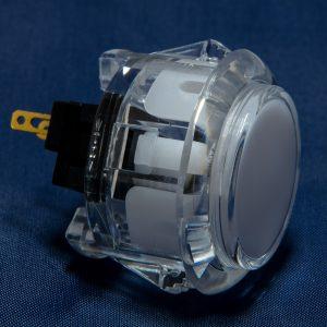 Sanwa OBSC 30mm Botón Translúcido – Blanco (Clear White)