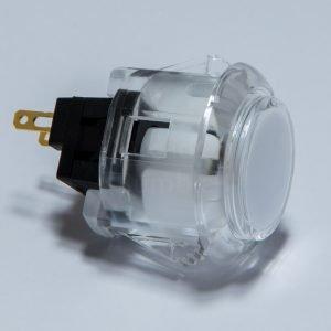 Sanwa OBSC 24mm Botón Translúcido – Blanco (Clear White)