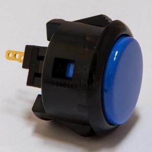 Sanwa OBSF 30mm Botón – Negro/Azul Oscuro (Black/Dark Blue)