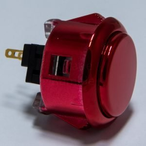 Sanwa OBSJ 30mm Botón Metalico – Rojo (Metallic Red)