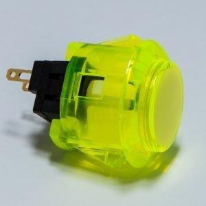 Sanwa OBSC 24mm Botón Translúcido – Amarillo (Clear Yellow)