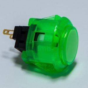 Sanwa OBSC 24mm Botón Translúcido – Verde (Clear Green)