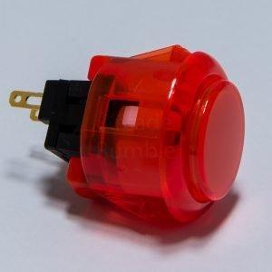 Sanwa OBSC 24mm Botón Translúcido – Red (Clear Red)