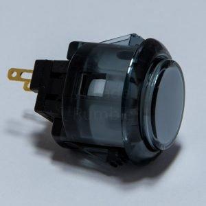 Sanwa OBSC 24mm Botón Translúcido – Humo (Clear Smoke)