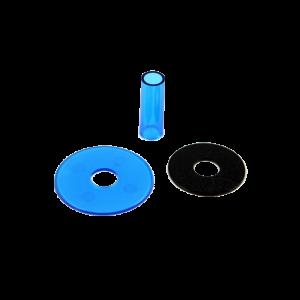 Sanwa JLF-CD Shaft & Dustwasher Set – Azul (Clean Blue)