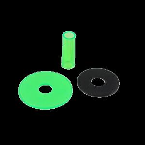 Sanwa JLF-CD Shaft & Dustwasher Set – Verde (Clean Green)