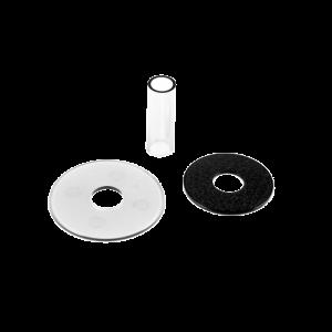 Sanwa JLF-CD Shaft & Dustwasher Set – Blanco (Clean White)