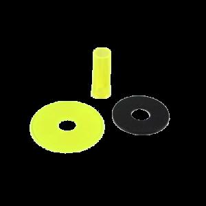 Sanwa JLF-CD Shaft & Dustwasher Set – Amarillo (Clean Yellow)