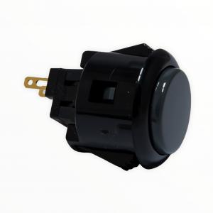 Sanwa OBSF 24mm Botón – Negro/Gris (Black /Dark Half – Gray)