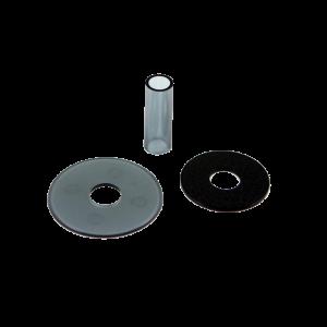 Sanwa JLF-CD Shaft & Dustwasher Set – Humo (Clean Smoke)