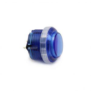 Qanba Gravity 30mm Botón Mecánico – Clear – Azul (Blue)
