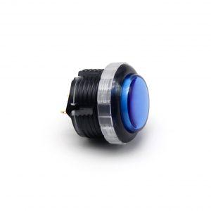 Qanba Gravity 30mm Botón Mecánico – Clear – Negro y Azul (Black & Blue)