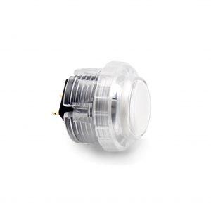 Qanba Gravity 30mm Botón Mecánico – Clear – Blanco (White)