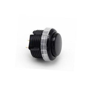 Qanba Gravity 30mm Botón Mecánico – Negro (Black)